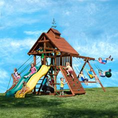 18 best playsets images cedar swing sets play sets creative play rh pinterest co uk