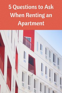 5 Questions to Ask When Renting an Apartment | MCLife: Austin