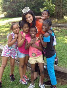 Cute! / Miss America 2012 Laura Kaeppeler having fun at Camp Bob at Kanuga!