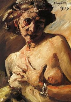 Lovis Corinth (German, Magdalen with Pearls in her Hair, oil on canvas, 715 x 476 mm. The popular image of St Mary Magdalen conflates three biblical figures. The most significant is Mary of Magdala, whom Christ cleansed of seven. Max Ernst, Figure Painting, Painting & Drawing, Life Drawing, Karl Hofer, Post Impressionism, Art Database, Art Uk, Sculpture