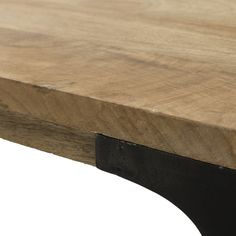 Solid mango wood dining table L180 Metropolis | Maisons du Monde Chaise Indus, Mango Wood Dining Table, Affordable Furniture, Butcher Block Cutting Board, Outdoor Furniture, Outdoor Decor, Home Decor, Wood Table Tops, Living Spaces