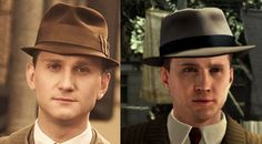 I was always oddly super attracted to Cole Phelps and now I know why... he looks exactly like the actor who voices him, Aaron Staton.