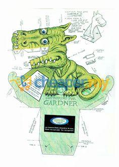 Amazing T-Rex Illusion DIY 3D Dinasour Folding Pap (end 3/6/2016 10:15:00 PM)