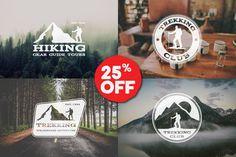 6 Trekking Adventure Badges & Logos by JeksonGraphics on @creativemarket