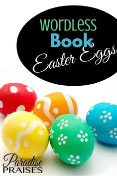 Wordless Book Easter Eggs visual aid and& activity is a great but simple way to give the sweet Gospel to children and adults alike at Easter. Christian Parenting, Christian Homeschool, Wordless Book, Visual Aids, Easter Celebration, Easter Crafts For Kids, Projects For Kids, Art Projects, Easter Eggs