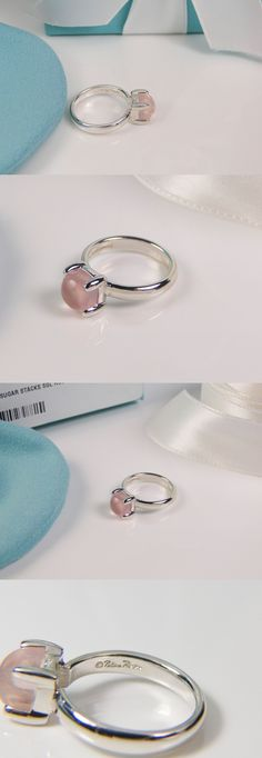 Other Jewelry and Watches 98863: New Tiffany And Co Silver Sugar Stacks Rose Quartz Ring Size 5.5 By Paloma Picasso -> BUY IT NOW ONLY: $499 on eBay!