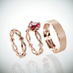 Hey, I found this really awesome Etsy listing at https://www.etsy.com/il-en/listing/548469201/14k-rose-gold-eternity-wedding-rings-set