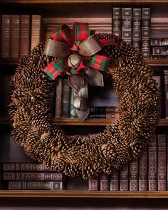 Balsam Hill's gorgeous Pinecone Wreath emulates the classic beauty of the holidays. This piece puts a creative spin on the traditional Christmas wreath using another time-honored symbol of the season, pinecones.
