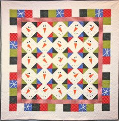 So Many Snowmen quilt pattern at Sew Cute Quilts