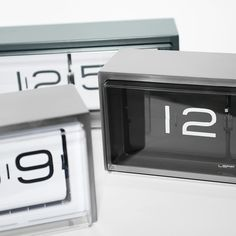Split-flap clocks, reminiscent of train station departure boards