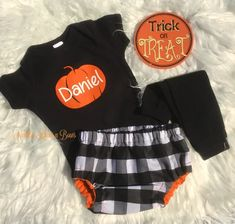 Boys Fall Pumpkin Outfit, Baby Boys Buffalo Plaid Outfit, Halloween Ou – Needles Knots n Bows Cake Smash Outfit Boy, Pumpkin Outfit, Girls Coming Home Outfit, Plaid Outfits, Baby Bloomers, Babies First Year, Toddler Boy Outfits, Halloween Outfits, Buffalo Plaid