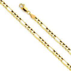 Sonia Jewels 14k White Yellow and Rose Three Color Gold Valentino Star Diamond-Cut Chain Necklace With Lobster Claw Clasp