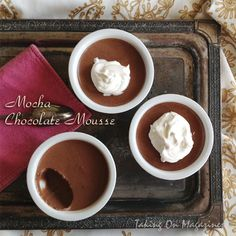 Mocha Chocolate Mousse | Taking On Magazines | www.takingonmagazines.com | Silky rich chocolate mousse that's laced with coffee and bourbon sounds time-intensive, but this delicious dessert is quick and easy to make.