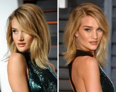 Find out why shoulder-length hairstyles are flattering to everyone, no matter her face shape, hair texture or body type. Plus, I pick the best shoulder-length cuts today.: Rosie Huntington-Whitely