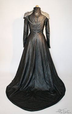 cd84325a Cersei Lannister Game of Thrones Costume Dress queen gown cosplay Black  pleather – by www.