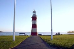 Smeaton's Tower, ( a lighthouse)  Plymouth Hoe, Devon,  England.