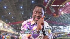 Tb Joshua, Godly Man, See You, I Can, Bible, Author, Words, Peace, Biblia