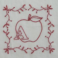 9 Embroidery Projects for Beginners: Redwork Alphabet Series
