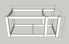 Mobile Workbench with Table Saw Garage Workbench Plans, Table Saw Workbench, Portable Workbench, Workbench Designs, Mobile Workbench, Woodworking Bench Plans, Woodworking Workbench, Woodworking Projects Diy, Diy Wood Projects
