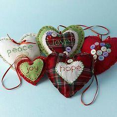 Love Hearts Sewing Kit ornaments