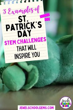 St. Patrick's Day STEM Activities and Challenges for Kids by Jewel's School Gems| Looking for ideas for easy St. Patrick's Day STEM projects? Try these St. Patrick's Day STEM challenges! Your students will design and build a leprechaun trap, a leprechaun hat and a rainbow bridge. These engineering activities will require the use of problem solving, communication skills, collaboration and creativity. CLICK TO LEARN MORE! #jewelschoolgems