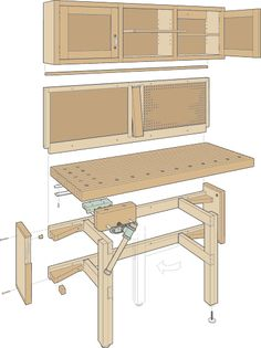 Exploded View- Folding Bench