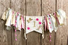 Celebrate your little flower child with this adorable and unique highchair garland. Can be used as a high chair banner or wall decoration.