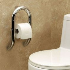 The Invisia Toilet Roll Holder with Integrated Grab Bar blends soft lines and graceful curves with practicality and function. This discrete hand rail offers trustworthy support combined with practical toilet paper storage. Replace Bathroom Sink, Bathroom Sink Plumbing, Handicap Bathroom, Bathroom Remodeling, Toilet Paper Dispenser, Toilet Roll Holder, Timeless Bathroom, Granny Pod, Small Toilet