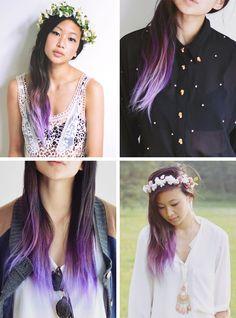 Alyssa-from-OrdinaryPeople-Purple-Tips-Hair-Ombre