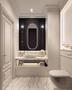 Bathroom Design Luxury, Bathroom Design Small, Modern Bathroom, Home Interior Design, Bad Inspiration, Bathroom Inspiration, Modern Apartment Decor, Apartment Design, Toilette Design