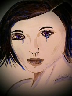 European Girl~by Jaycien Bagwell~acrylic/pen~2013