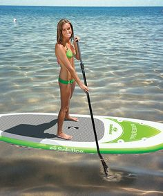 White & Green Inflatable Paddle Board #zulily #zulilyfinds