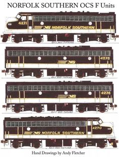 NORFOLK Southern OCS F-Units Engine Drawings