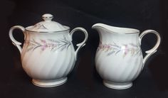 Arlen DEVOTION sugar bowl and creamer fine china set visit our ebay store at  http://stores.ebay.com/esquirestore