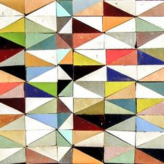 "anne-sophie-tschiegg: "" carrelage - triangles, multicolore, Ateliers Zelij """