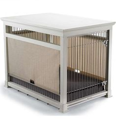 A luxury residende dog crate provides ultimate comfort for your pet and doubles as an attractive piece of furniture