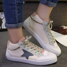 $12.40 Leisure Women's Athletic Shoes With Star Pattern and Canvas Design