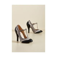 Vintage Inspired Accomplished Visionary Heel ($50) ❤ liked on Polyvore featuring shoes, pumps, black, heels, t-strap heel, black heeled shoes, vintage style pumps, pointy-toe pumps, black heel pumps and heel pump