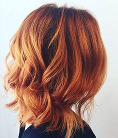 Fall Hair Color #pumpkin #pie #spice #PumpkinPieSpiceHair #Red #curls #cut #haircut