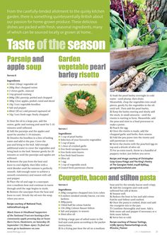 Taste of the season ~ Delicious dishes packed with fresh, seasonal and locally-sourced ingredients. Apple Soup, Quirky Kitchen, Delicious Dishes, Surrey, Fresh, Canning, Drink, Recipes, Inspiration