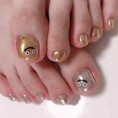 Feet Nail Design, Feet Nails, Pedicure, Nail Designs, Eyeshadow, Make Up, Beauty, Dragon Quest, Hair