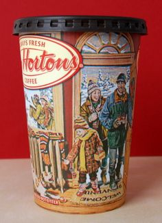Tim Hortons holiday cup I Am Canadian, Canadian History, Coffee Market, Coffee Cafe, Coffee Mug Drawing, Tim Hortons Coffee, Canada Christmas, Are You Being Served, Coffee And Donuts