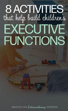 8 Activities That Help Build Children's Executive Functions // Emotional Regulation, Working Memory, Organization, Perspective Taking, Planning Ahead, Self-Restraint, Empathy, Morality, Cognitive Flexibility, Etc. Are all executive Functions. #ADHD #ADHDKids #ChildDevelopment #LearningThroughPlay #ToddlerDevelopment #ToddlerActivities #Autism #ASD