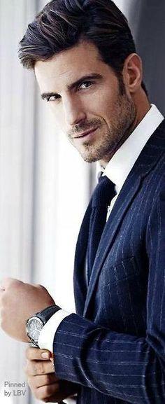Aitor Ocio, model and former Spanish Soccer Player. Gentleman Mode, Gentleman Style, Sharp Dressed Man, Well Dressed Men, Fashion Moda, Mens Fashion, Style Fashion, Look Man, Hommes Sexy