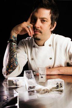 Chef Sam Mason with tasty chemicals