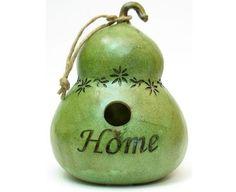 Gourd Bird Houses | Home Green Gourd Birdhouse