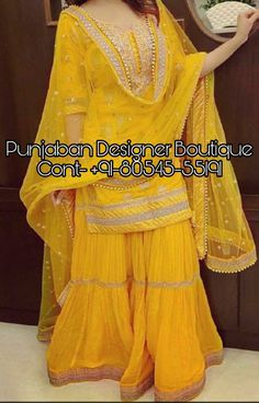 Punjabi Suit Stylish Heavy Sharara Suit designs especially for party occasion at best discounted prices including unique readymade sharara indian suit . Sharara Designs, Sari Blouse Designs, Kurta Designs Women, Kurti Designs Party Wear, Anarkali, Lehenga, Sharara Suit, Patiala, Salwar Kameez