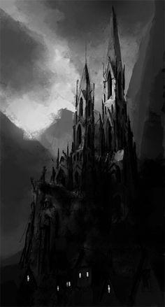 Gothic & vampiric castle (reminiscent of Bram Stoker's tale).