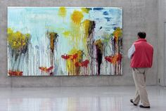 Visitor looking at Cy Twombly's Lepanto, 2001 I can never get enough. Ever.