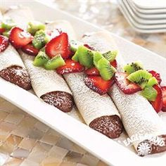Chocolate Cream Crepes from Eagle Brand® #ValentinesDay